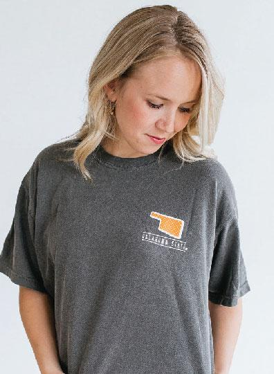 OK STATE 2019: Confetti Dots & Athletic Logo  - Shortsleeve