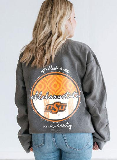 OK STATE 2019: Ikat & Stripes - Sweatshirt
