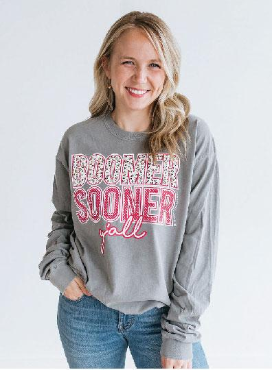 UNIV. OF OK 2019: Boomer Sooner Y'all - Longsleeve
