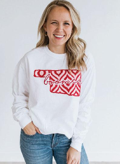 UNIV. OF OK 2019: Ikat & Stripes - Longsleeve