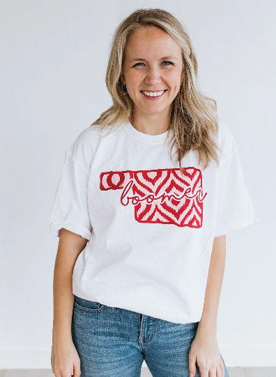 UNIV. OF OK 2019: Ikat & Stripes - Shortsleeve