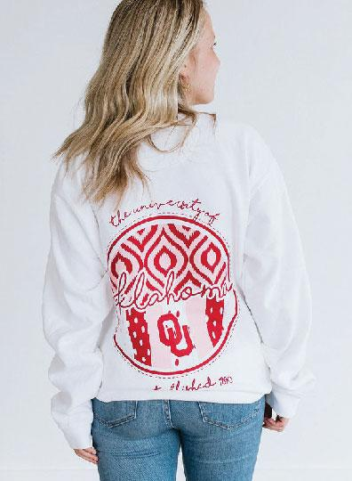 UNIV. OF OK 2019: Ikat & Stripes - Sweatshirt