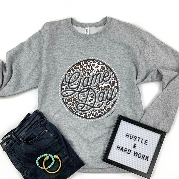 SPORTS LIFE: Game Day Leopard Circle - Sweatshirt