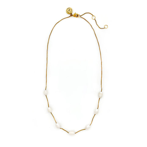 JRC x SB String of Pearls Necklace - Gold