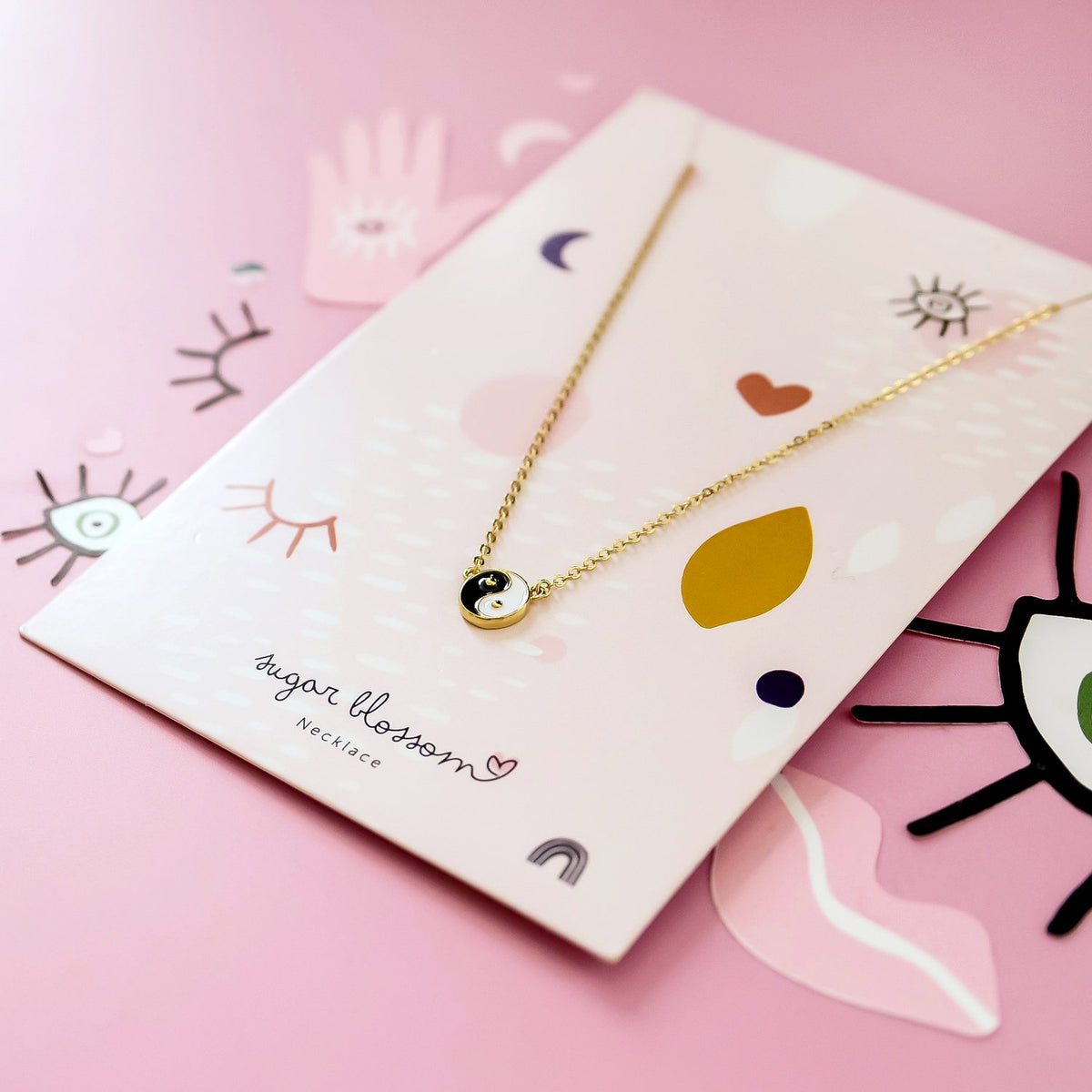 Lana Yin Yang Necklace- Gold