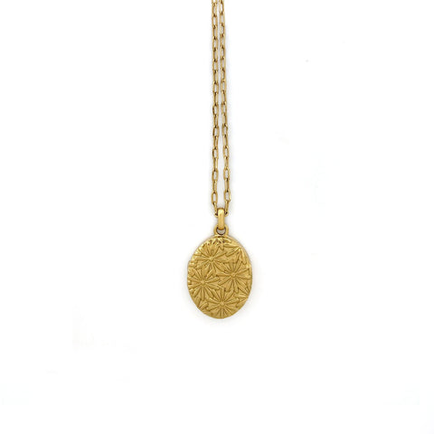 Layla Locket Necklace - Gold