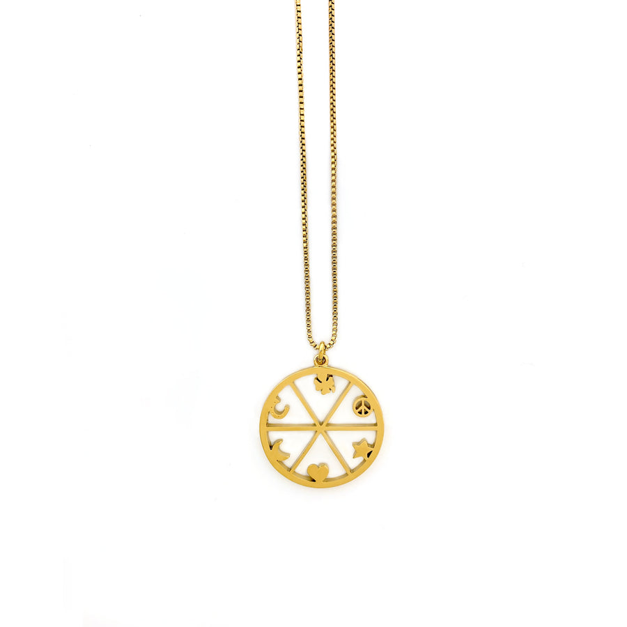 Quincy Necklace necklace Shop Sugar Blossom Quincy Necklace - Gold
