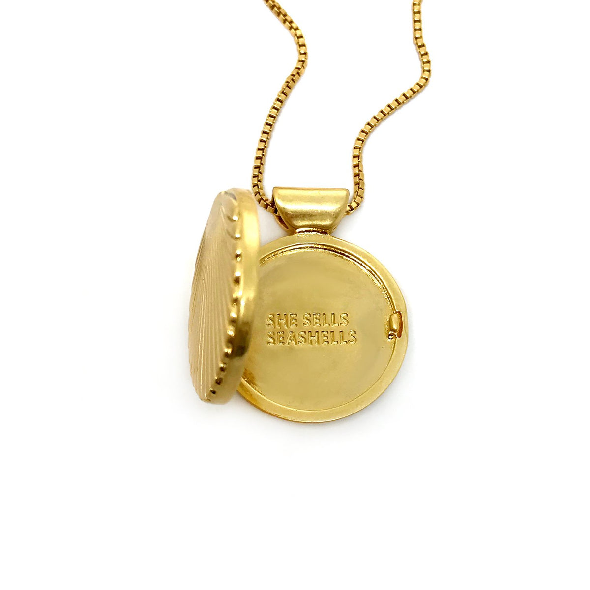 Ursula Locket Necklace- Gold