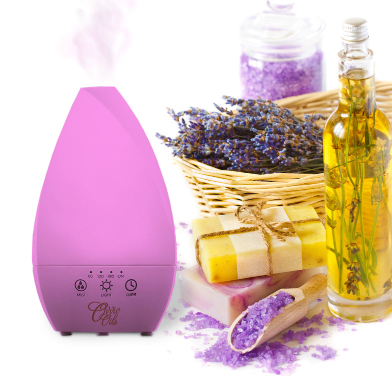 Sea Glass Aromatherapy Ultrasonic Diffuser by Ovvio Oils (200 ml) - 7 Colors