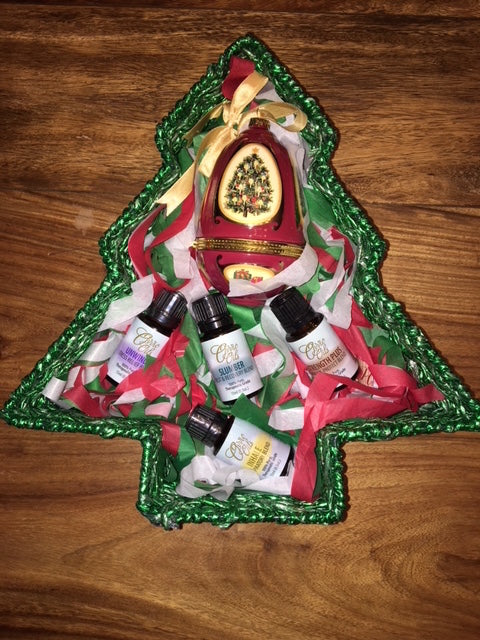Ovvio's Christmas Music and Essential Oils Blends Gift Basket