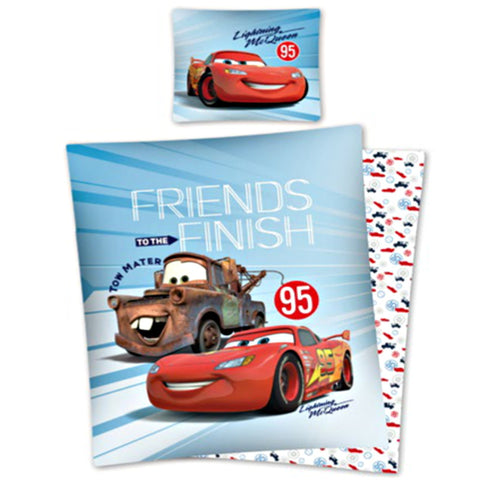"Bērnu gultas veļa CARS ""Friends at Finish"" (Vāģi)"