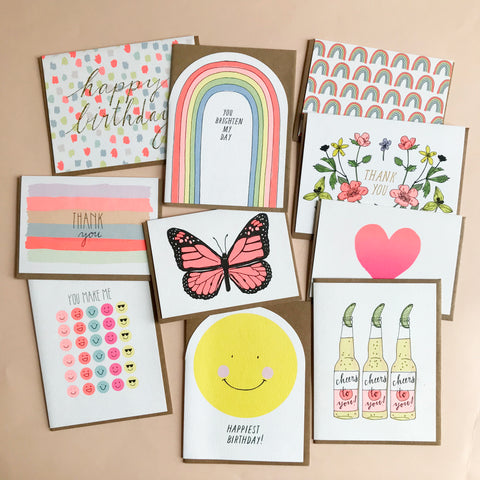Set of 10 Joyful Cards