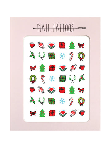 Holiday Nail Tattoos