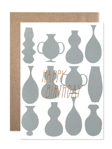 Happy Birthday Pots with Copper Foil