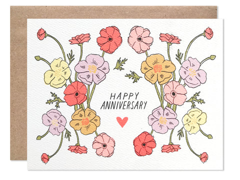 Anniversary / Happy Anniversary Poppies - wholesale