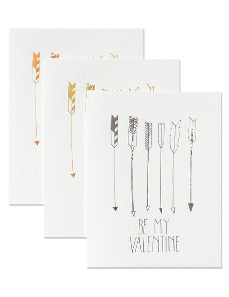 Be My Valentine Foil Arrow Trio illustrated by Hartland Brooklyn