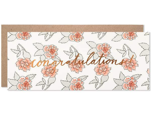 Congratulations Roses with Copper Foil