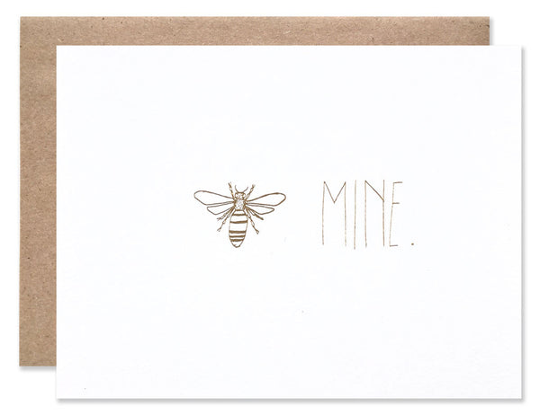 Bee mine illustrated by Hartland Brooklyn and gold foil letter pressed.
