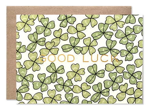 Everyday / 4 bar / Goodluck Shamrock with Gold Foil - wholesale