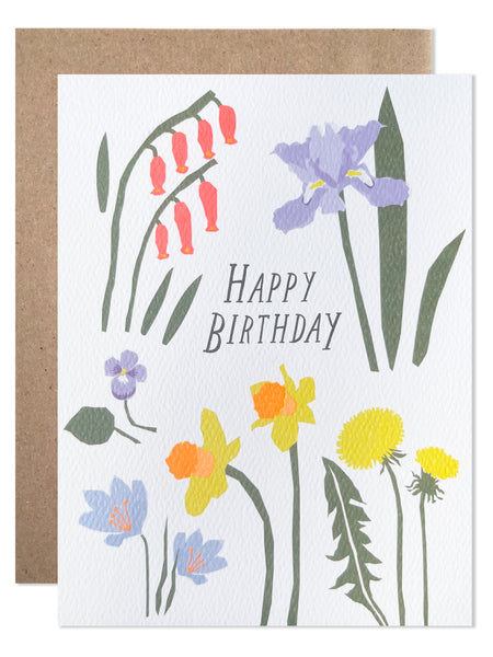 Happy Birthday Spring Flowers