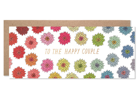 To The Happy Couple Florals with Gold Foil
