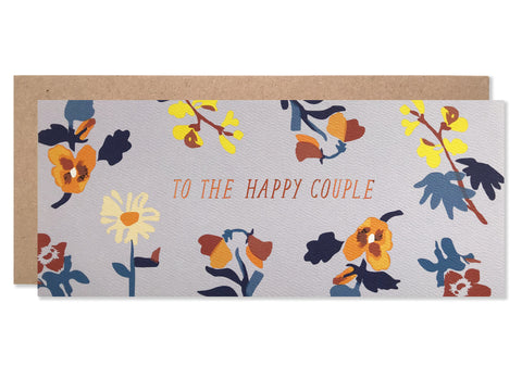 To The Happy Couple Laura Print with Copper Foil