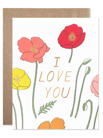 Love and Friendship /  I Love You Poppies - wholesale