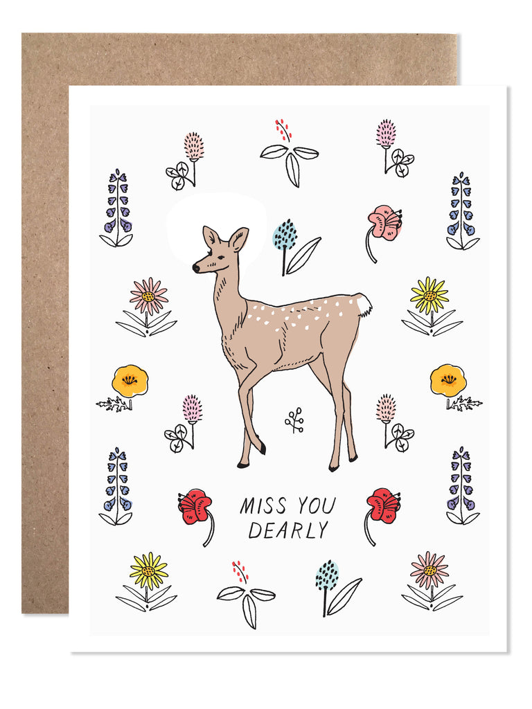 Postcard Miss You Dearly