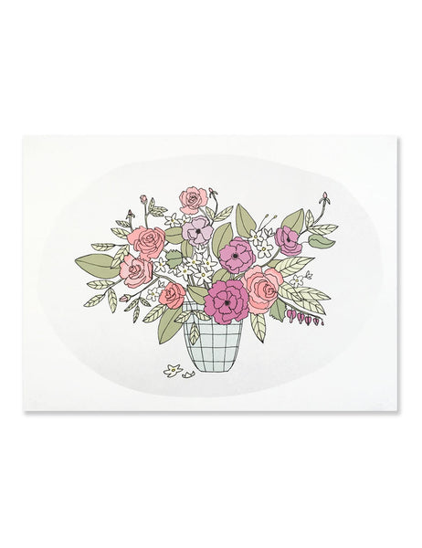 Neon Bouquet Art Print