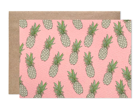 Everyday / 4 bar / Pineapple Print Blank Folding Card- wholesale