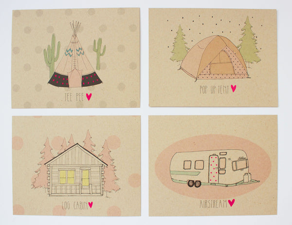 8-Pack Camp Postcard Set