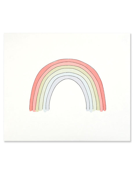 Tall Neon Rainbow Art Print