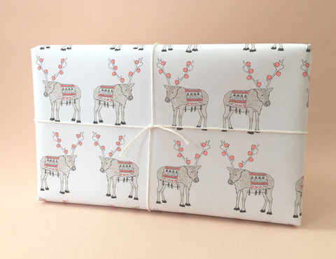 Reindeer Wrapping Sheet