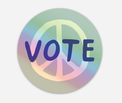 Vote Holographic Sticker