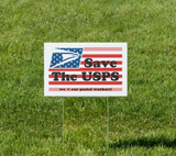 Save The Post Office Lawn Sign