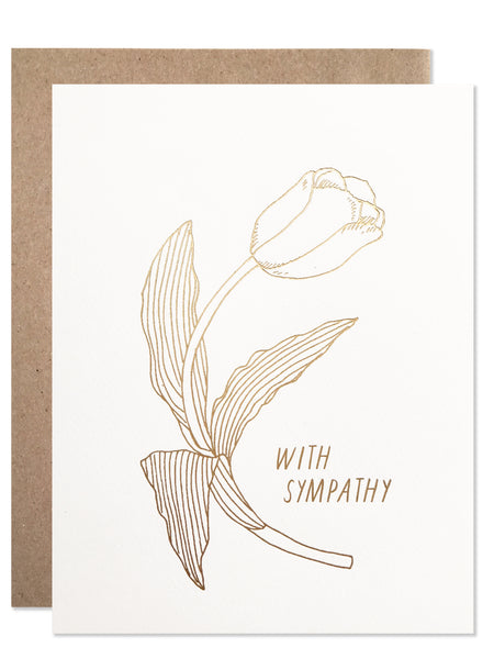 Gold Foil With Sympathy Tulips