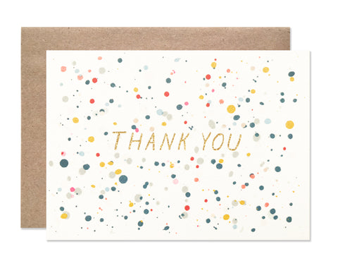 Thank you / 4 bar / Thank You Splatter with glitter foil - wholesale