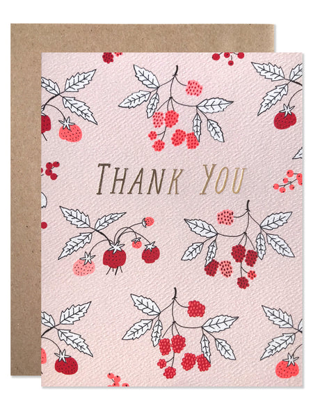 Thank You Berries with Gold Foil