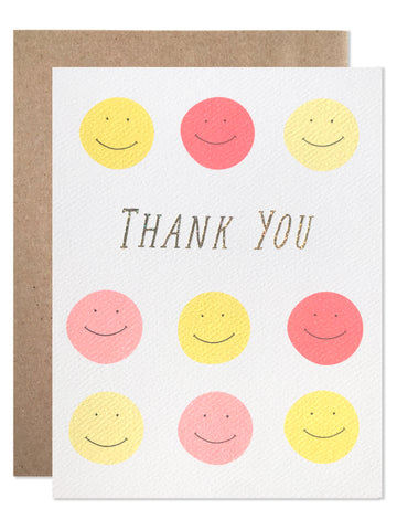 Thank you / Thank You Smileys with Glitter Foil - wholesale