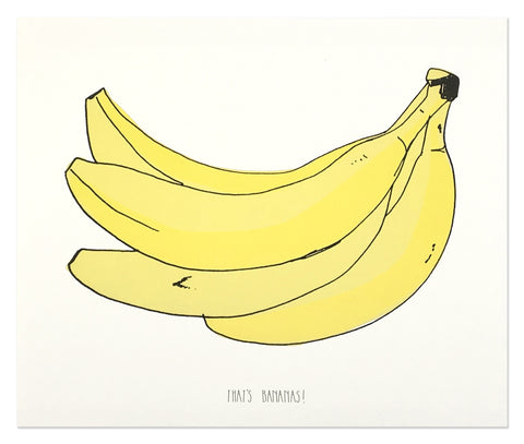 Neon That's Banana Art Print