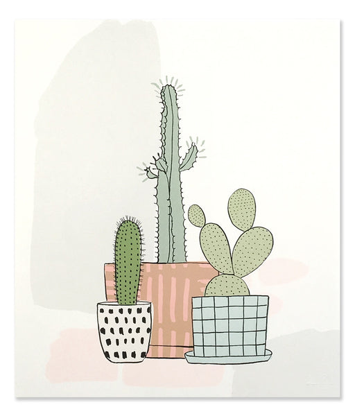 Three Cacti Art Print