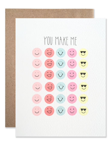 You make me smile sticker paper with smiley stickers illustrated by Hartland Brooklyn