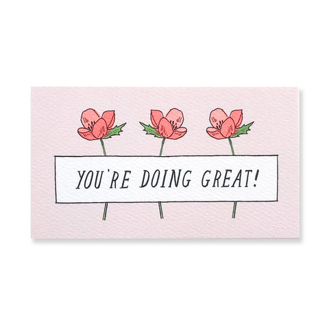 48 Mini Floral Encouragement Cards