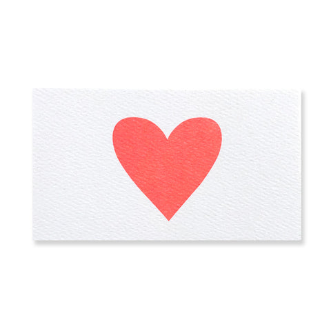 48 Mini Neon Heart Cards