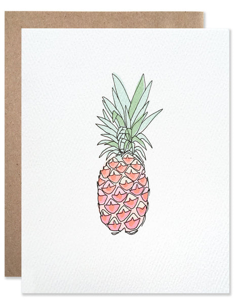 Neon pink pineapple illustrated by Hartland Brooklyn.