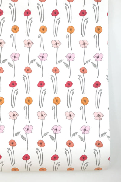 Ombre Poppies Wallpaper