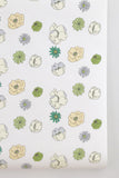 Large Poppy Wallpaper Green