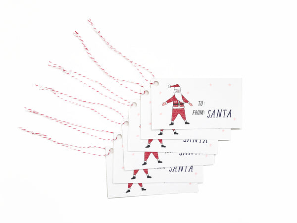 Set of 12 Santa Gift Tags