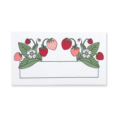 48 Mini Strawberry Cards / Place Cards