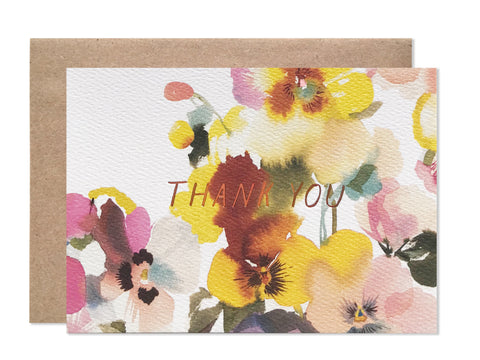 DEALTRY X HB Pansies Thank You - wholesale